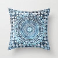 MANDALIKA INDIGO Throw Pillow