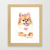 Pomeranian Princess Framed Art Print