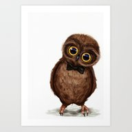 Art Print featuring Owl III by Isaiah K. Stephens