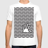 wave Mens Fitted Tee White SMALL