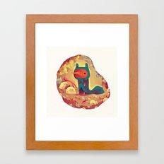 le frisé Framed Art Print
