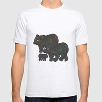 Wandering Bears Mens Fitted Tee Ash Grey SMALL