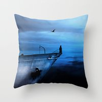 Icecold Longing Throw Pillow