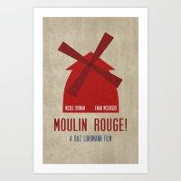 Moulin Rouge Minimalist … Art Print