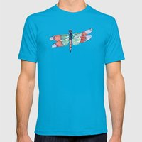 Dragonfly Mens Fitted Tee Teal SMALL