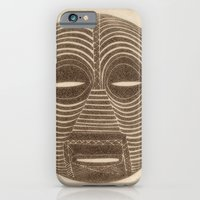 iPhone Cases featuring African Luba Mask by Little Bunny Sunshine