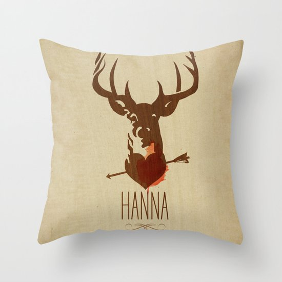 HANNA film tribute poster Throw Pillow