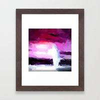Delphin in Action. Framed Art Print