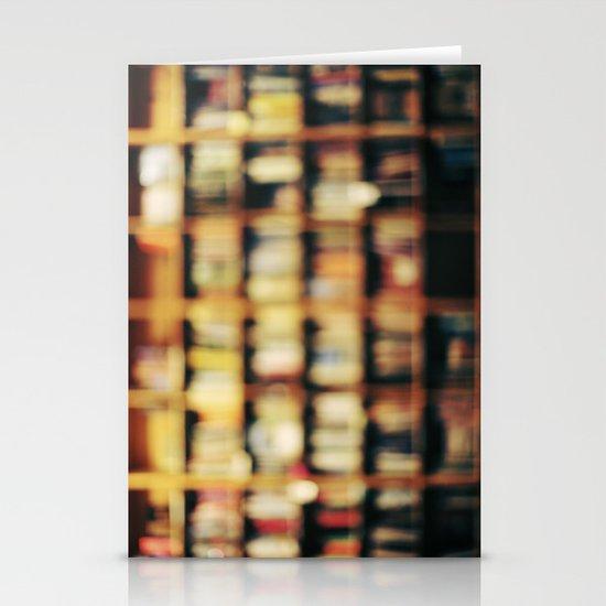 Book Bokeh Stationery Card