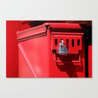 Lock And Box Canvas Print
