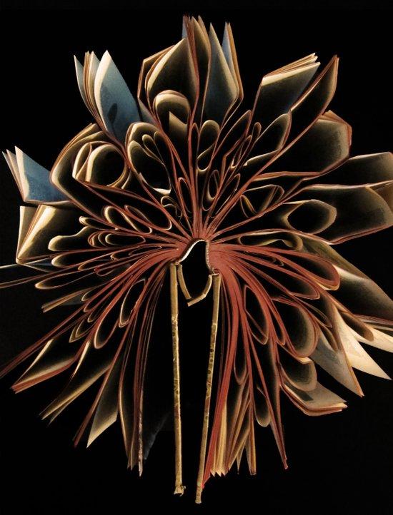 Book Flower Art Print