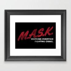 M.A.S.K. Framed Art Print