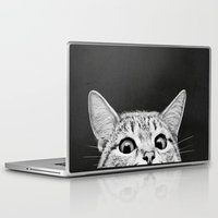 cats Laptop & iPad Skins featuring You asleep yet? by Laura Graves
