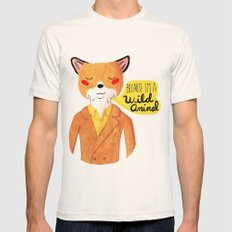 Because I'm a Wild Animal Mens Fitted Tee Natural SMALL