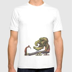GIANT SMALL White Mens Fitted Tee