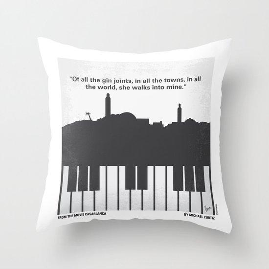 No192 My Casablanca minimal movie poster Throw Pillow
