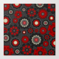 Dark Romance Floral Canvas Print