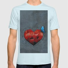 Captive Heart Mens Fitted Tee Light Blue SMALL