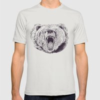 Bear Mens Fitted Tee Silver SMALL