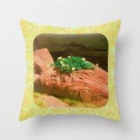 Datura Cavern Throw Pillow