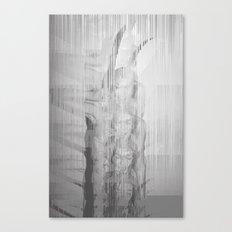 Bunny Girl Glitch Canvas Print