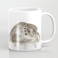 A Green Sea Turtle :: Earthtones Mug