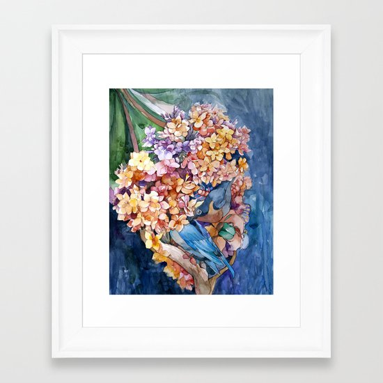 Making nest Framed Art Print
