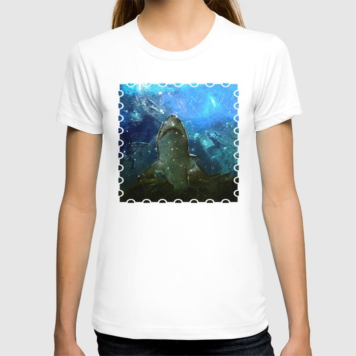 The Great White Marine Lava Lamp T Shirt By Distortion Art