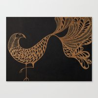 Golden Bird #1 Canvas Print