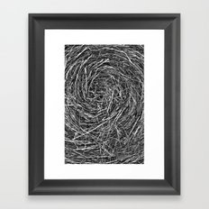 Hay Roll Framed Art Print