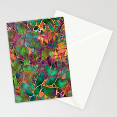 Floral Abstract Stained Glass G176 Stationery Cards