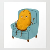 Couch Potato Art Print
