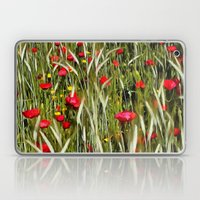 Red Poppies In A Cornfield Laptop & iPad Skin