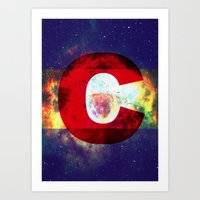 Colorado Flag/Galaxy Print Art Print