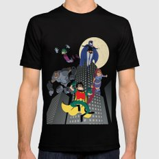 Teen Titans Mens Fitted Tee Black SMALL