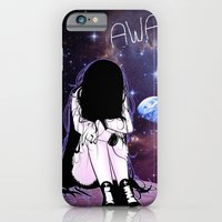 iPhone Cases featuring Gone away girl by AmySun