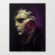 Canvas Print featuring Mass Effect: Thane Krios by Ruthieee