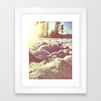 Ski Lodge Days Framed Art Print