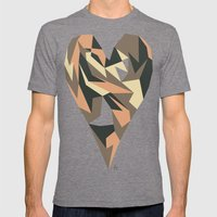 Heart Mens Fitted Tee Tri-Grey SMALL