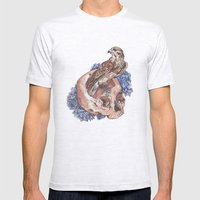 Hawk and Skull Mens Fitted Tee Ash Grey SMALL