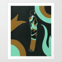 Eloise lives in an art deco paradise Art Print