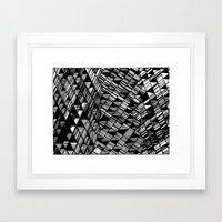 Moving Panes Black & White Framed Art Print