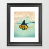 Framed Art Print featuring Brilliant DISGUISE by Vin Zzep