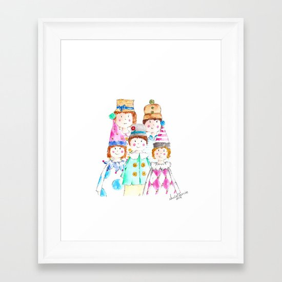 Circus Friends Framed Art Print