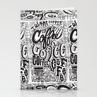 coffee Stationery Cards featuring COFFEE COFFEE COFFEE! by Matthew Taylor Wilson