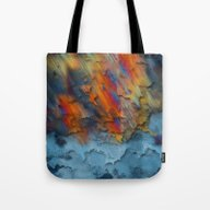 Diagonal Rainbow Redux Tote Bag