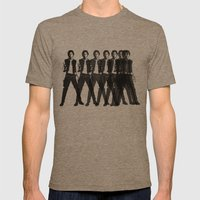 Octo Harrison  Mens Fitted Tee Tri-Coffee SMALL