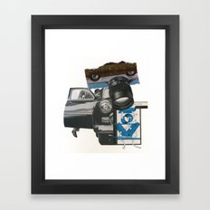 Try, But You Can Never Run Away From Yourself Framed Art Print