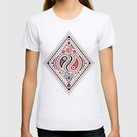 83 Drops - Diamonds (Red & Black) Womens Fitted Tee Ash Grey SMALL