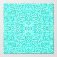 Radiate (Mint) Canvas Print